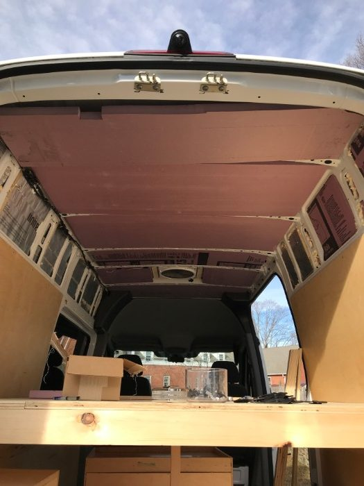 Converted Van Ceiling Panels Installation [How To